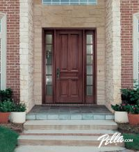 Enjoy walking up to your homes entrance with a Pella wood ...