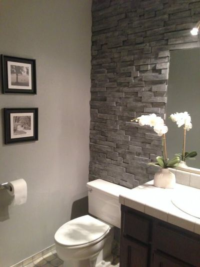 25+ best ideas about Bathroom accent wall on Pinterest | Toilet room, Toilet closet and Half ...