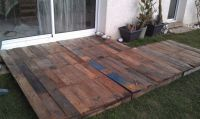 "Temporary Winter ""Palette"" or Pallet Deck. 