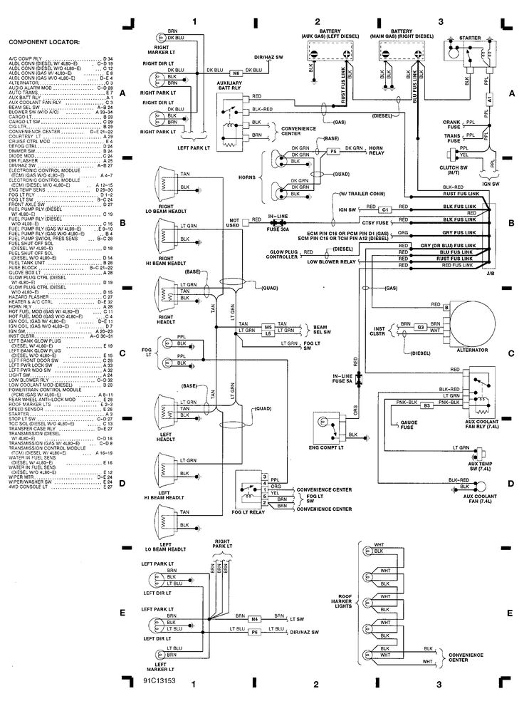 chevy 2500 engine compartment wiring diagram 1991 chevrolet 1500