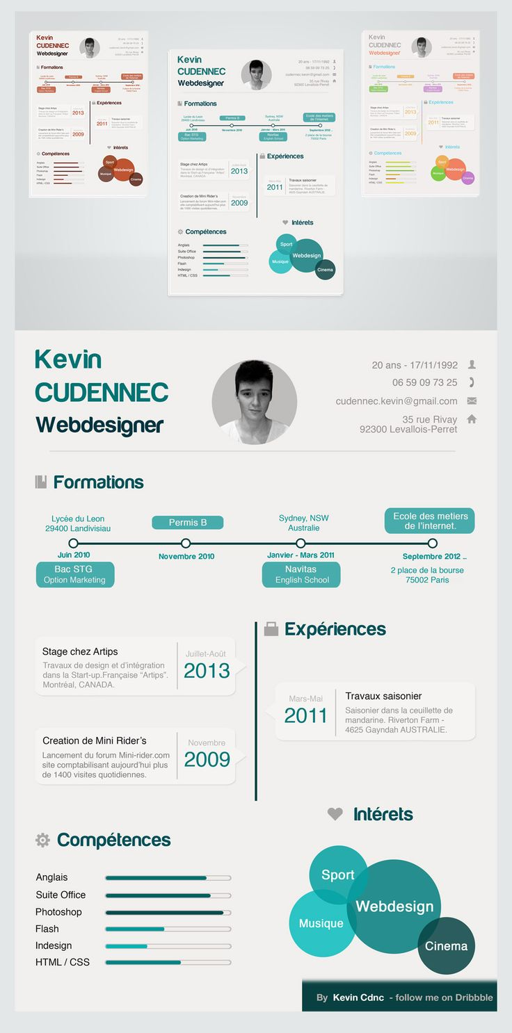 template cv webdesign photoshop