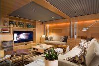 Corrugated Metal Basement Ceiling
