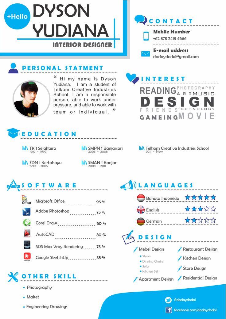 creative interior design resume sample