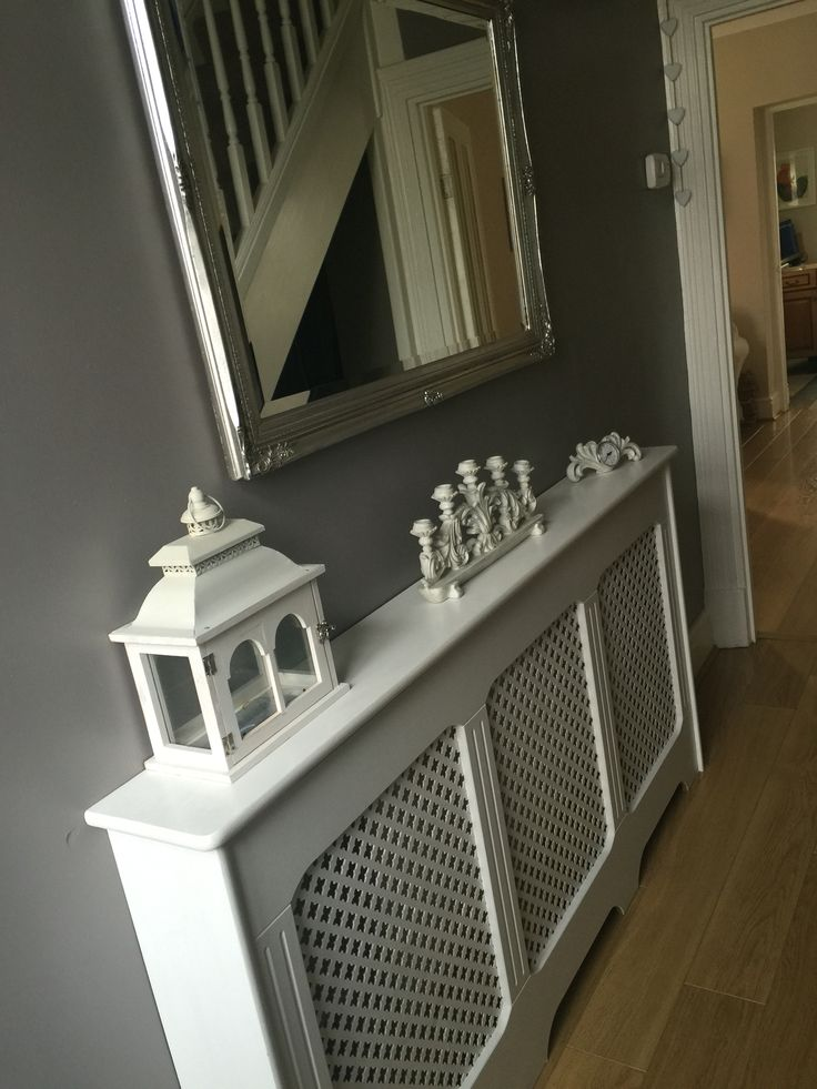 Container Keuken White Radiator Cover. Grey Walls. Love The Contrast And