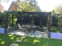 Small, shallow, contemporary garden design in Bracknell ...