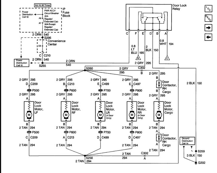 2007 silverado door lock wiring diagram