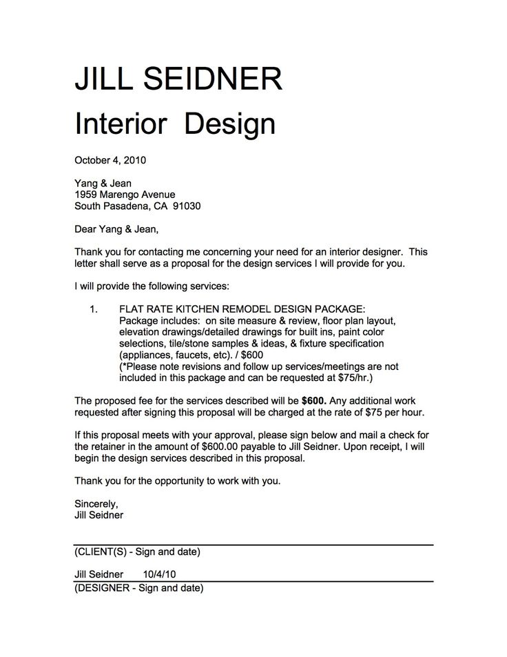 Interior Design Proposal Template Rfp Document Template Rfp - interior design proposal template