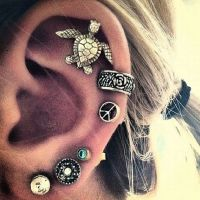 Multiple ear piercings | earrings | Pinterest | Ears ...
