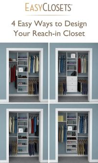 4 Ways to Design Your Reach-in Closet | Closet Organizers ...