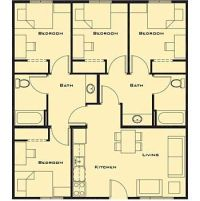 Small 4 bedroom House Plans Free