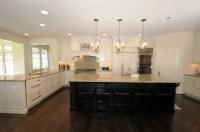 Off white cabinets with dark island. | My Kitchen ...
