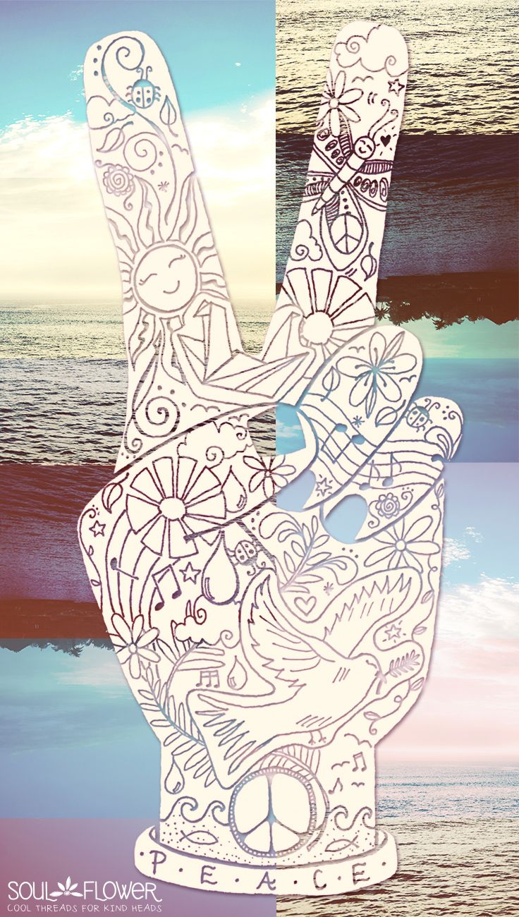 Mandala Wallpaper Iphone 6 Peace Love Summer Soulflower Soul Flower Shop