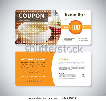 11 Best Images About Beautiful Gift Voucher Template On Pinterest   Food  Voucher Template
