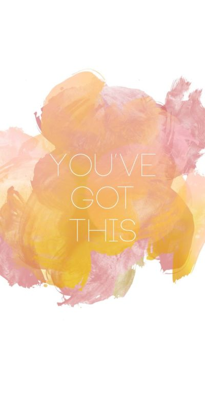 Pink watercolour You got this iphone wallpaper phone background lock screen | iPhone | Pinterest ...