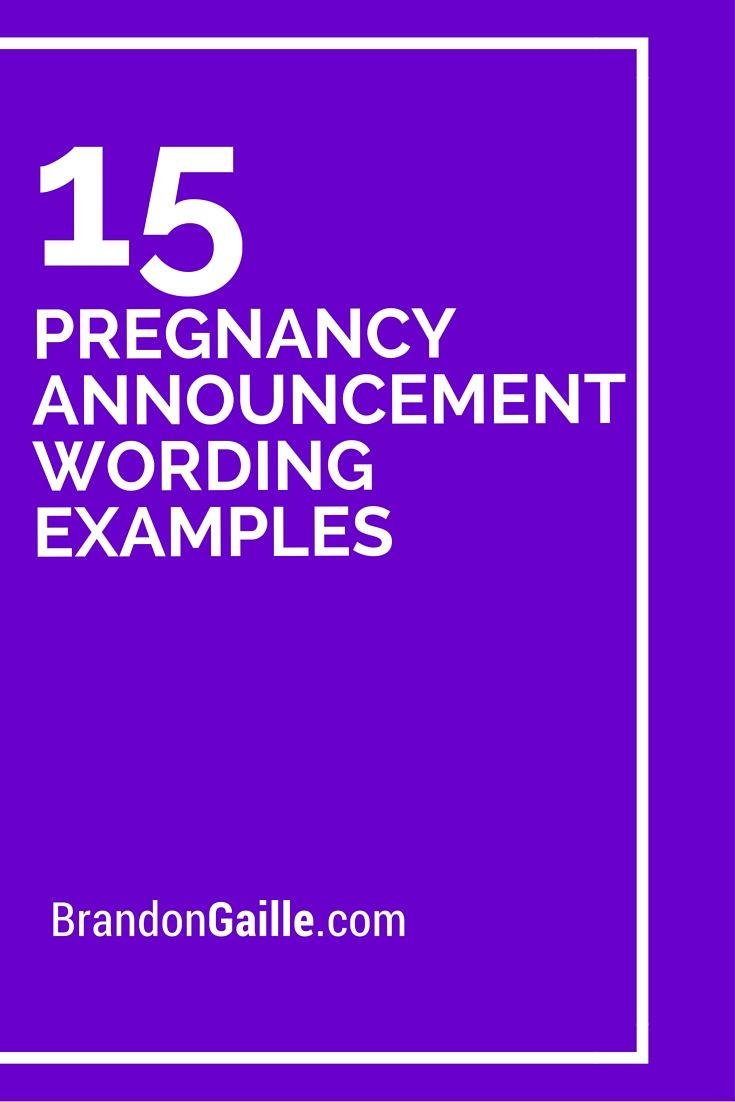pregnancy announcement text