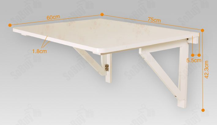 Drop Leaf Wall Table Details About Sobuy® Wall-mounted Drop-leaf Table, Folding