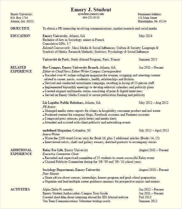resume templates for political science