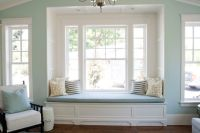 white built-in window seat love - adore the undressed ...