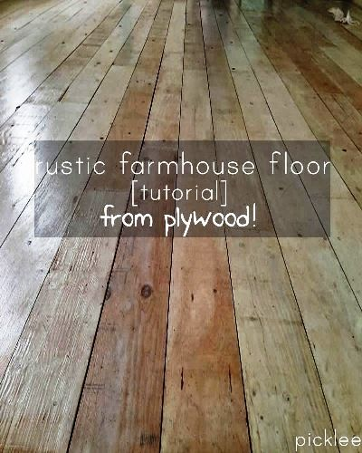 Diy Plywood Wood Floors. Full Instructions! Save A Ton On Wood