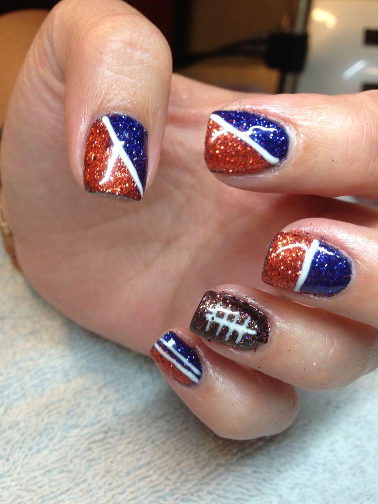 Denver Broncos Nails Denver Broncos Pinterest Denver