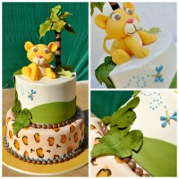 baby Lion King baby shower decorated cake | Lion King ...