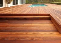 Beautiful redwood deck.