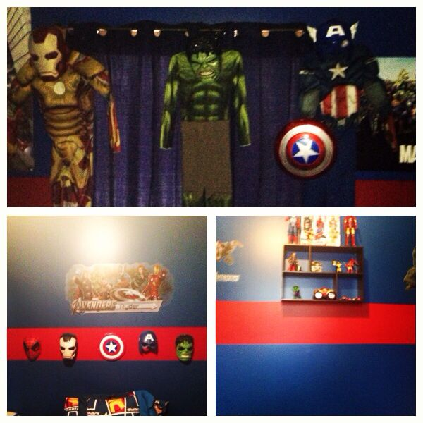 Avengers bedroom! Ryder's room 2013