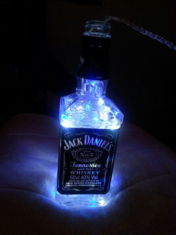 Weed Girl Out Door Wallpaper Jack Daniels Bottle With Fairy Lights Decorations