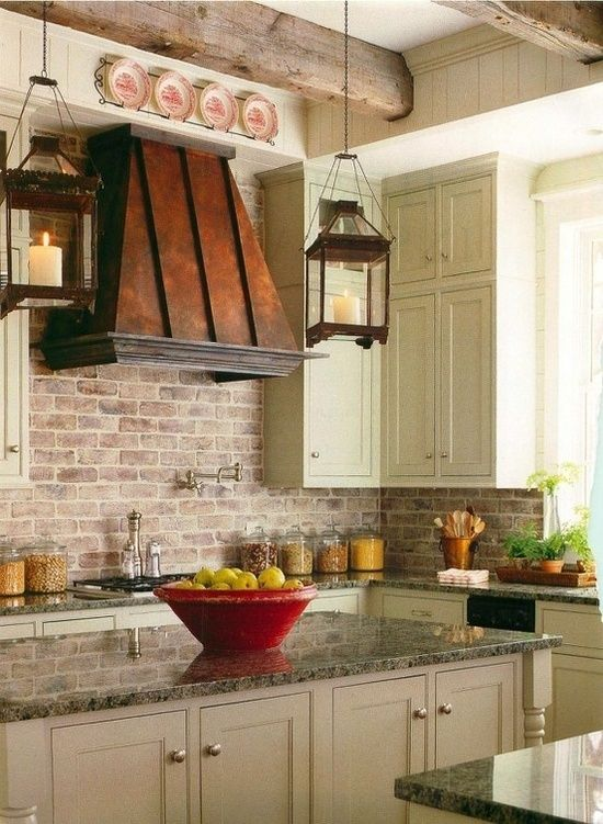 Ceiling Fan With Good Lighting Brick Backsplashes: Rustic And Full Of Charm | Copper