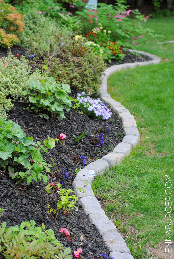 The perfect border for your beds defining a gardens edge with inexpensive stone that fit