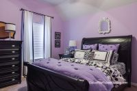 Lavender Bedroom- Teen room decked out in black furniture ...