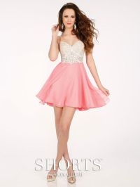MCS11604 Shorts By Mon Cheri. short prom dress. pink and ...