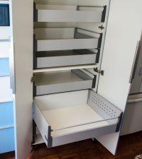 IKEAs 30 pantry cabinet with Blum Tandembox pull-out ...