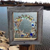 Sea Glass Wreath   Decorating   Pinterest   Circles, The ...