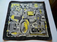 Vintage LIBERTY of LONDON silk scarf - 1950's London ...