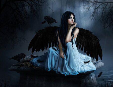 Gossip Girl Cartoon Wallpaper Dark Raven Angel Raven And Dark Angel Pinterest Dark