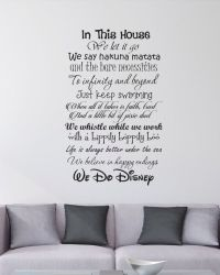 In This House We Do Disney - Wall Decal | Disney, You and ...
