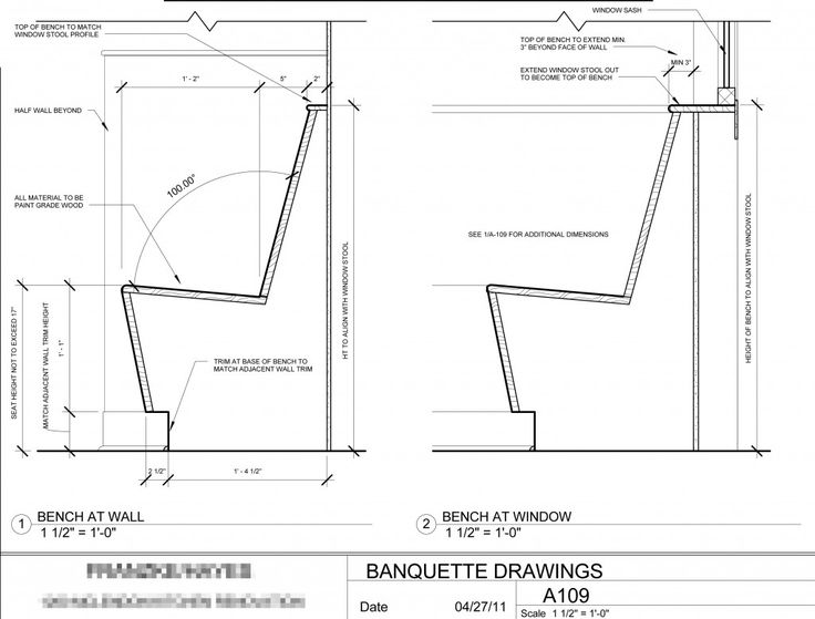Depth Of Banquettes Banquette Seating Design | Cotter Christian, Ltd. Co