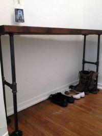 Easy Modern Black Iron Pipe Bench / Entryway Table ...