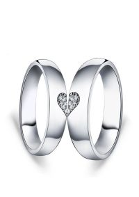 Matching Love Heart Promise Rings for Couples   Couples ...