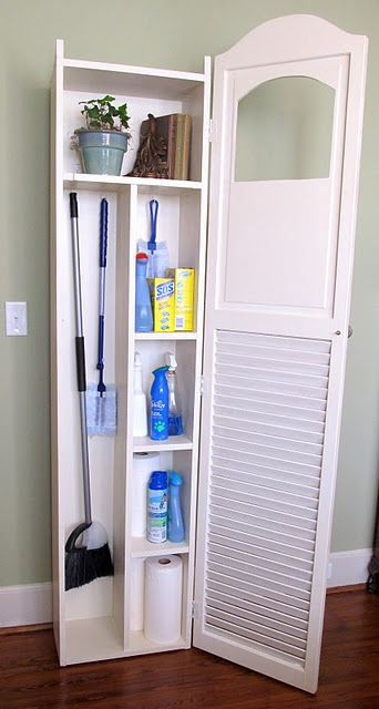 Bi Fold Louvered Doors To Made A Utility Cabinet That Is