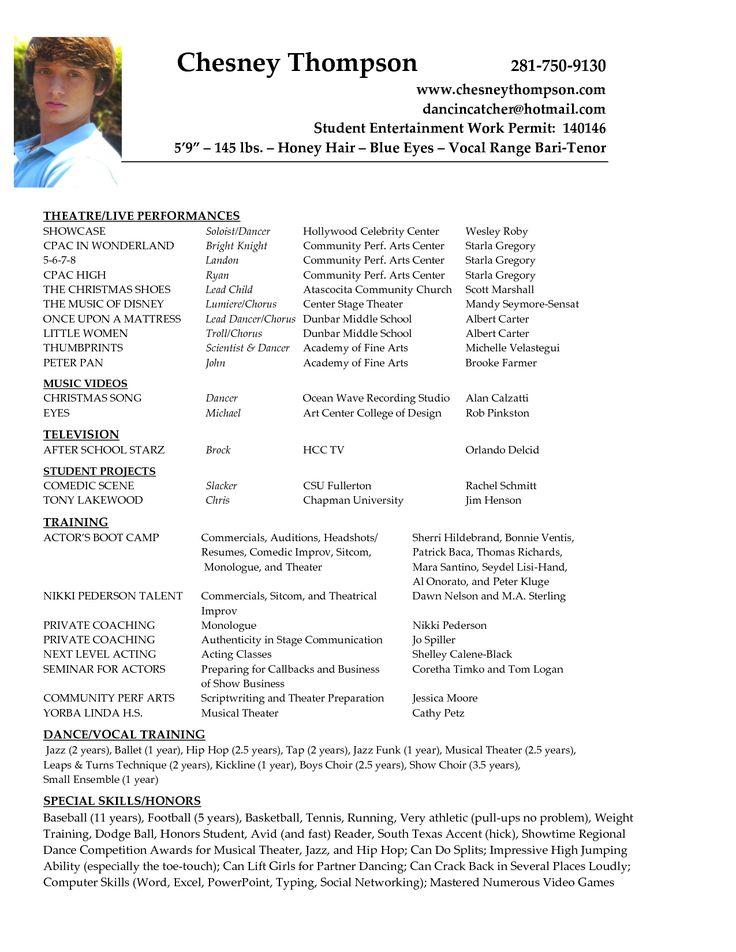 examples of actors resumes actors resume example resume example actors resume