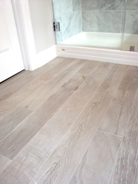 Aki Baño Bathrooms - Italian Porcelain Plank Tile, Faux Wood Tile
