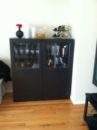 Instead of using this as a floor unit. Hang the cabinets ...