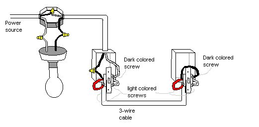 three way switch wiring diagram 15 amp