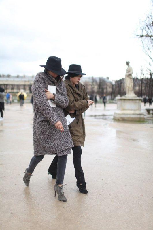 Paris Fashion Week street style.: