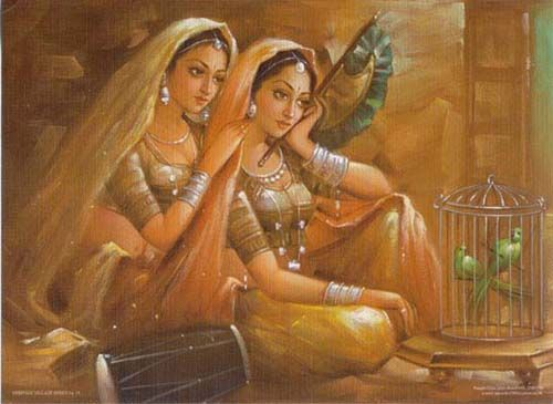 Indian Local Beautiful Girl Wallpaper Two Indian Culture Women Scene Indian Art Indian Art