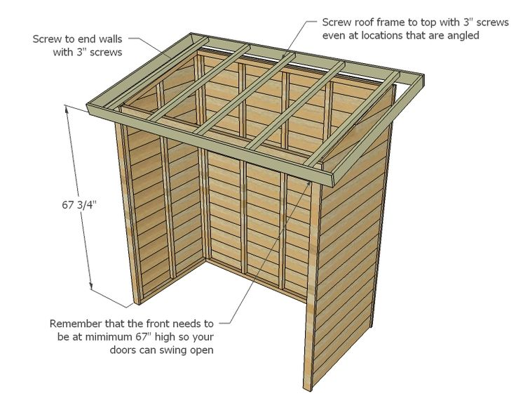 Houthok Maken Met Dakpannen Ana White | Build A Small Cedar Fence Picket Storage Shed