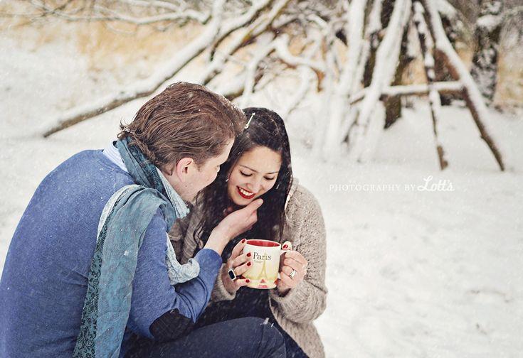 Cute Romantic Gf Bf Wallpaper Winter Photoshoot Couple Love Tea Snow Cosy Photo