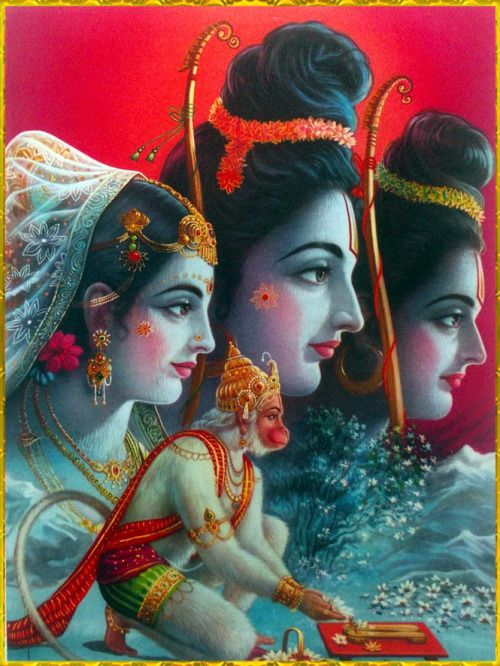 Lord Krishna Animated Wallpapers Hd Sita Ram Lakshman Hanuman ॐ ☀artist P Sardar Wherever